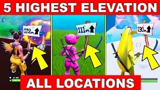 What Are The Highest Pionts In Fortnite Visit The 5 Highest Elevations On The Island All Locations Week 6 Challenges Fortnite Season 8 Youtube