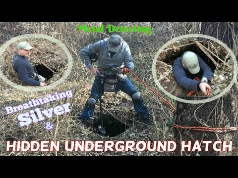 Amazing Silver found by mysterious Hatch Door hidden in the woods - Metal Detecting 2018