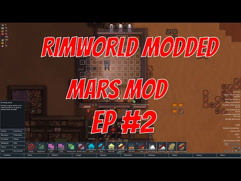 Rimworld alpha 15 - mars v2 mod - EP 2  - Dead soil problem -  Rimworld a15 modded let's play