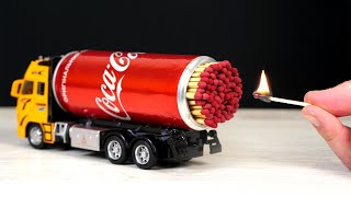 EXPERIMENT: Amazing Matches Powered Truck!