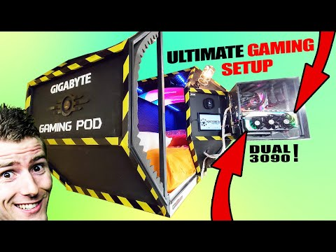 We made the ULTIMATE GAMING POD!