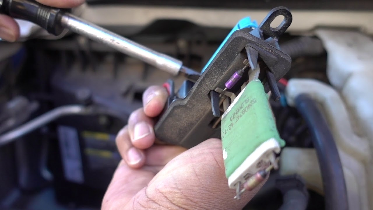 how to replace a blower motor resistor 2011 chevy express [ 1280 x 720 Pixel ]