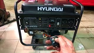видео Бензиновый генератор  Hyundai HHY  5000 F