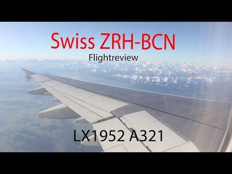 Tripreport Swiss Zürich-Barcelona A321 LX1952