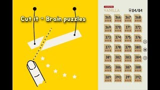Cut it : brain puzzles(ultra sharp) walkthrough 14.Vanilla (365~392  Level) 3star Perfect clear