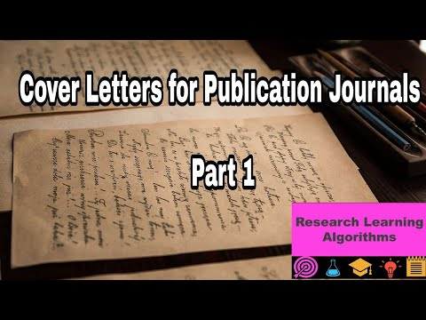 Writing Cover Letters For Journals