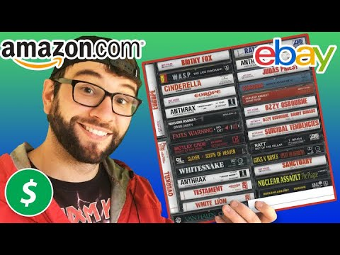 How Much $$$$ From Selling Old Music Cassette Tapes on eBay and Amazon? Garage Sale Haul!