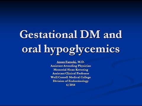 Oral Antihyperglycemic Treatment for Gestational Diabetes
