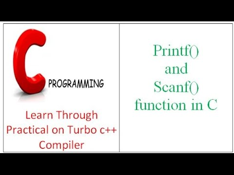 Printf() and Scanf() function in C