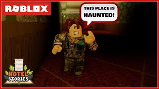 ROBLOX HOTEL STORIES: WE ARE TRAPPED ON A HAUNTED HOTEL