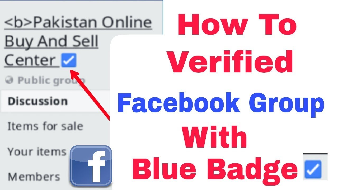 How to get my facebook group page verified with blue badge