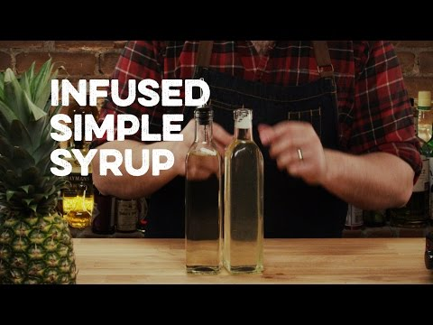 How to make vanilla simple syrup for cocktails