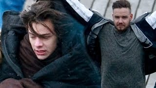 One Direction Freeze On New Music Video Shoot