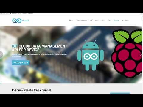 IoThook ve Raspberry Pi ile sicaklik degerini buluta gönderme
