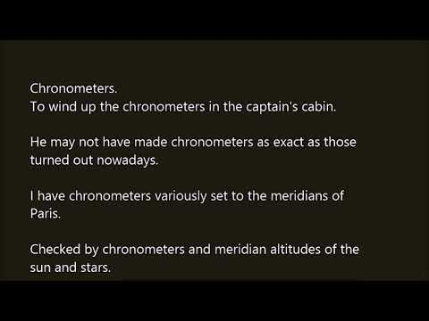 Chronometers word in sentence with pronunciation