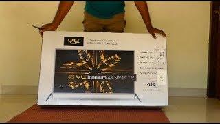 Vu 43BU113 109 cm 43 Smart Ultra HD 4K LED Television Unboxing