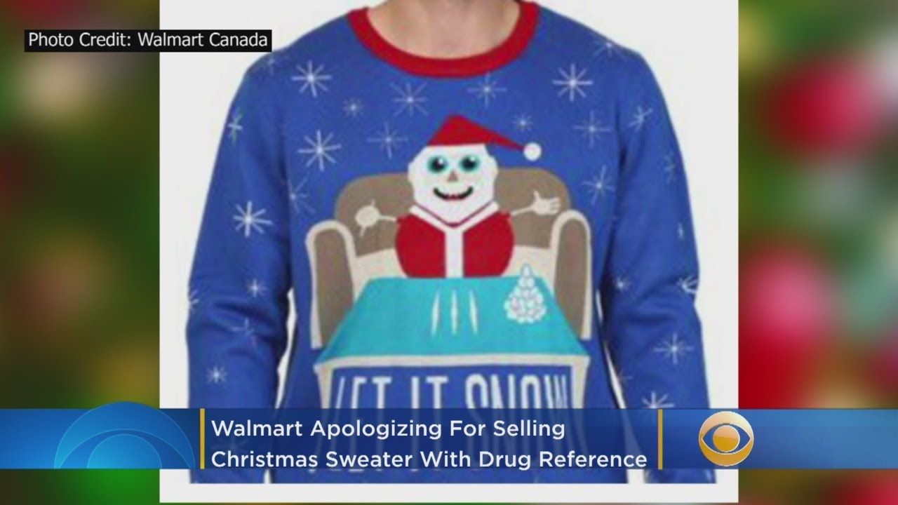 Walmart Apologizes For Selling Christmas Sweater With Drug Reference
