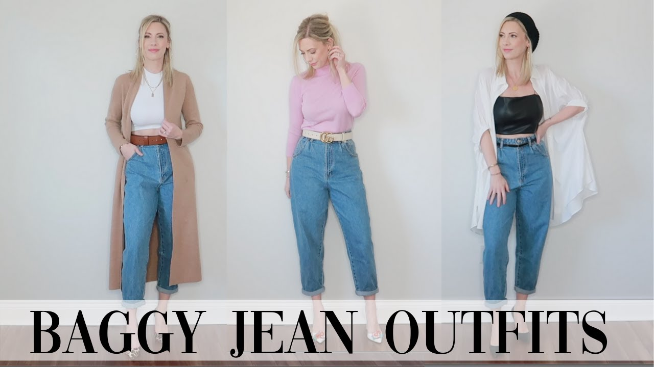 How To Style Slouchy Jeans Pants 11 Outfits Youtube
