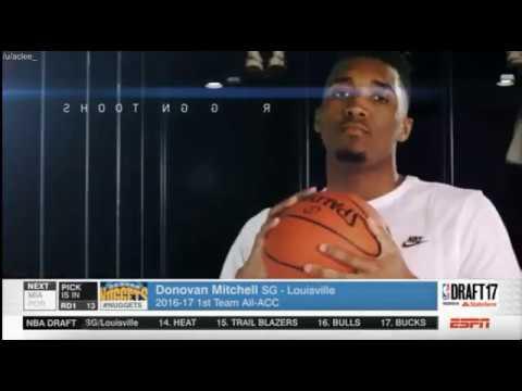 DONOVAN MITCHELL - 13th Overall Pick (2017 NBA DRAFT) Den-Utah