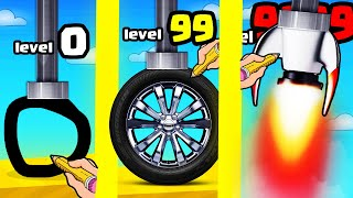 Drawing THE FASTEST WHEEL VEHICLE in Scribble Rider (9999+ SPEED)