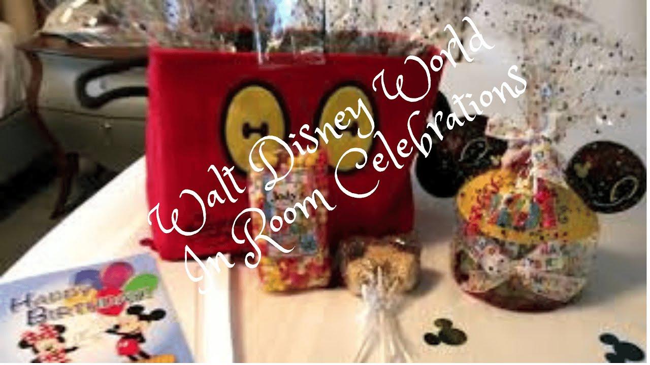 Disney Resorts In-Room Celebration