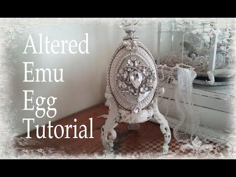 Vintage Glam - Jeweled Emu Egg Tutorial Timelapse