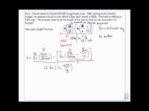 Financial Algebra: Loan Length and Monthly Payment Formula 2-25-14 - YouTube