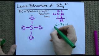 lewis structure of so4 2 sulfate correct