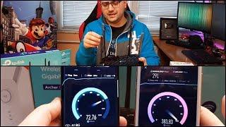 Ревю на рутер и удължител за безжичен интернет | TP Link Archer C6 & RE450 | + Тест