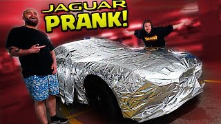 JAGUAR in ALUFOLIE PRANK!