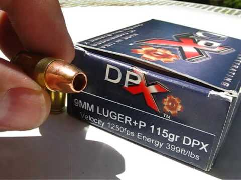 AT1 - 9mm Luger - DPX - Cor-Bon 115 Gr +P JHP - YouTube