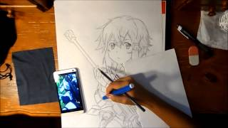 Sword Art Online 2 : Sinon (speed Drawing)