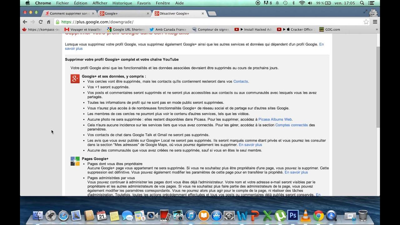 Comment Supprimer Un Compte Google Plus Youtube