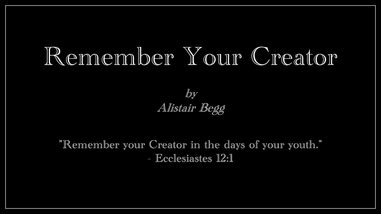 Image result for alistair begg ecclesiastes