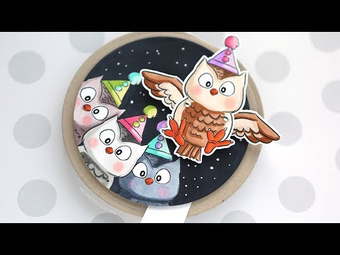 Interactive Flutters Owl Card - Art Impressions Week Day 1