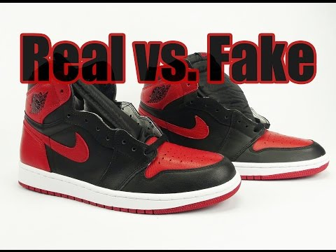 Real vs. Fake Air Jordan 1 Banned Bred 2016 Legit Check