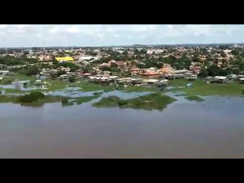 Vídeo aéreo da cidade de Itaituba Pará