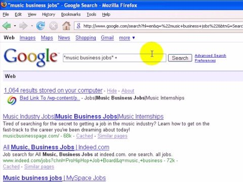 Advanced Google search techniques to use in your music business job