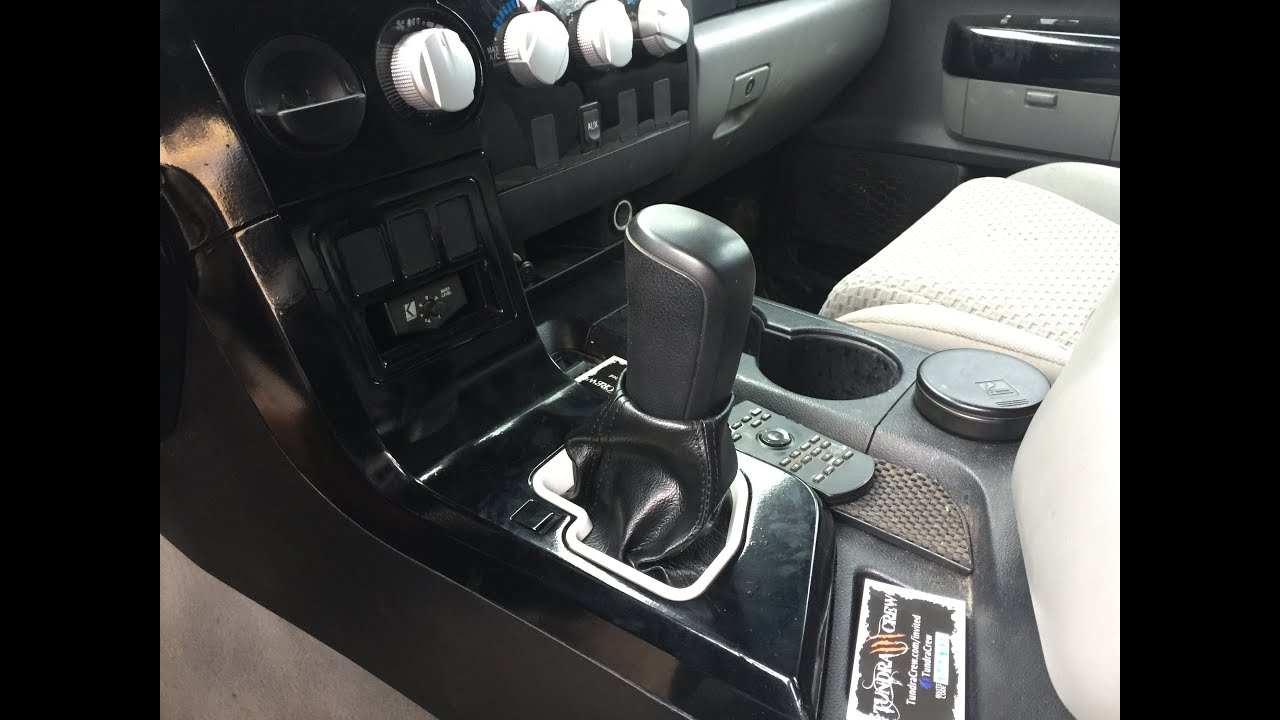 07 13 Tundra Shifter Boot Mod Youtube