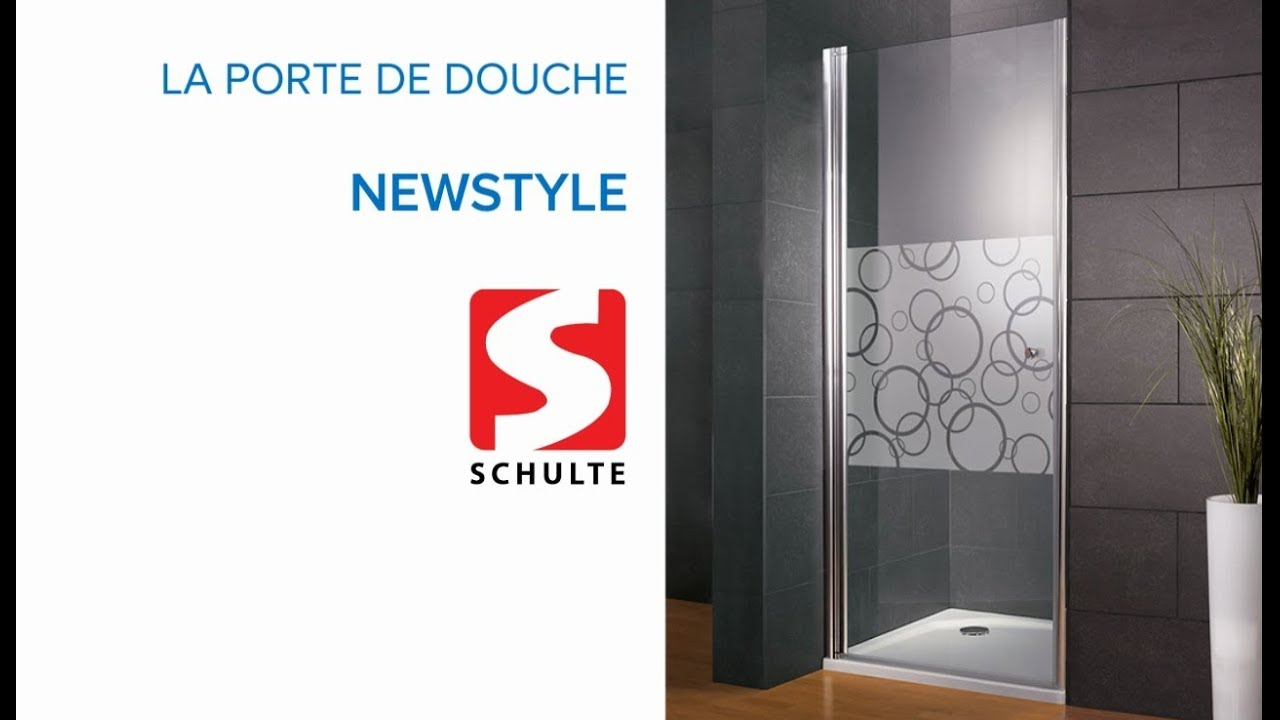 porte de douche pivotante newstyle schulte castorama youtube. Black Bedroom Furniture Sets. Home Design Ideas