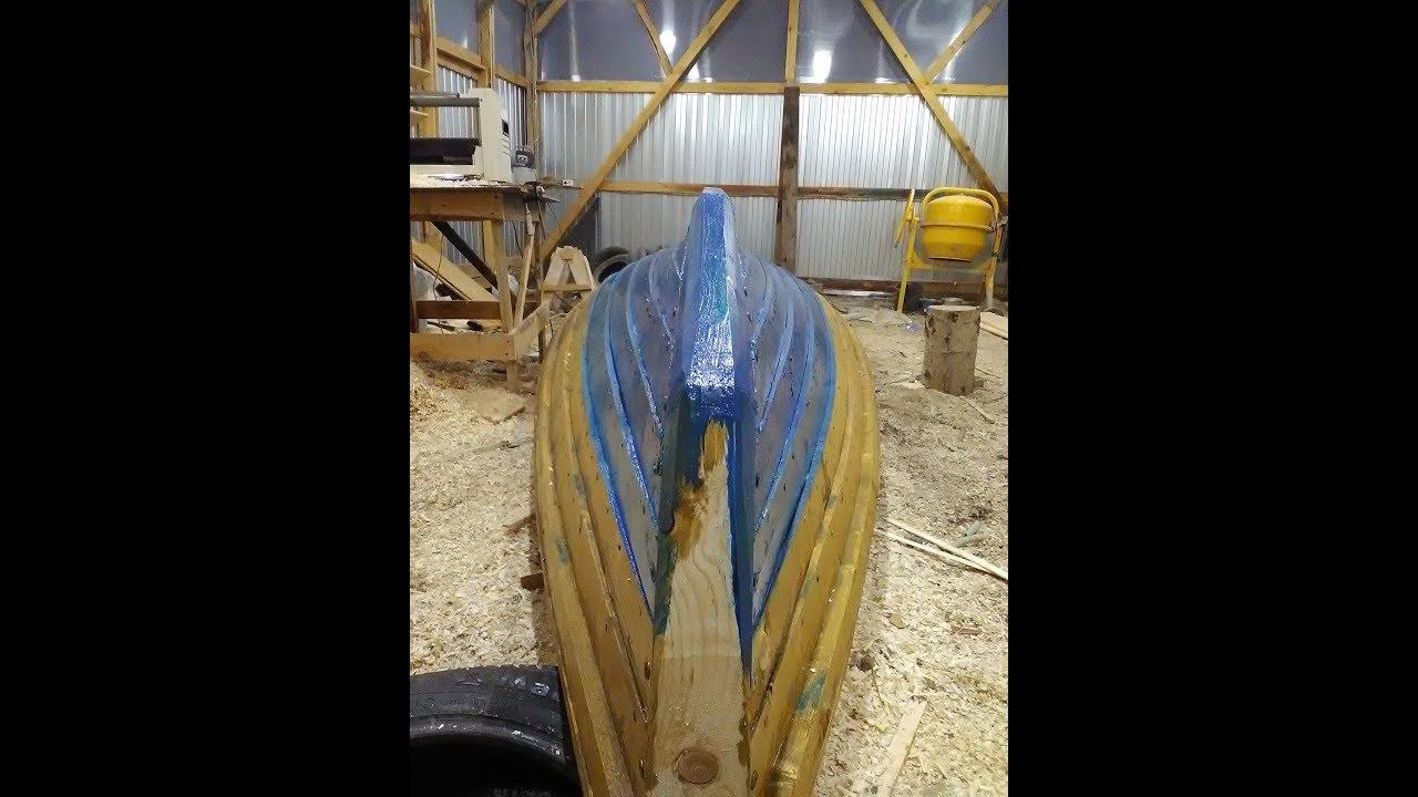как я делал деревянную лодку за 15 мин+ покатушки