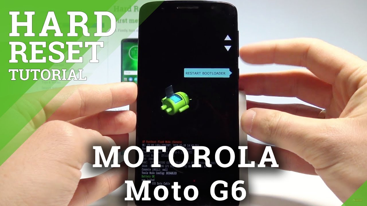 How to Hard Reset MOTOROLA Moto G6 - Remove Screen Lock / Restore Factory  |HardReset Info
