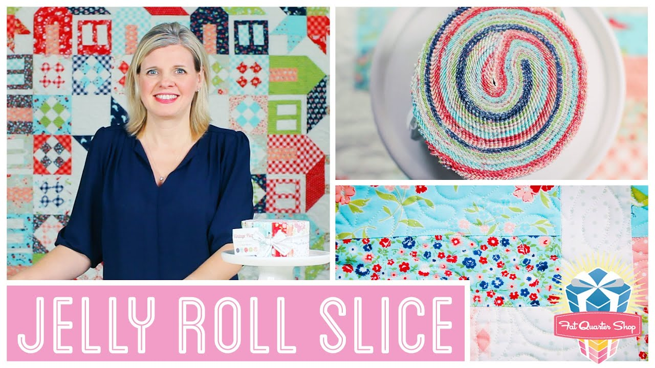 Jelly roll slice easy quilting tutorial with kimberly jolly of jelly roll slice easy quilting tutorial with kimberly jolly of fat quarter shop youtube baditri Images