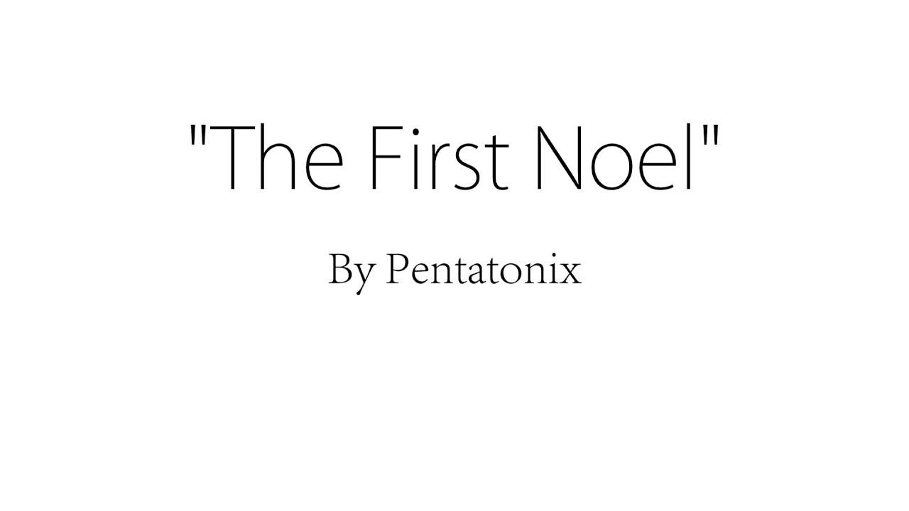 the first noel pentatonix lyrics