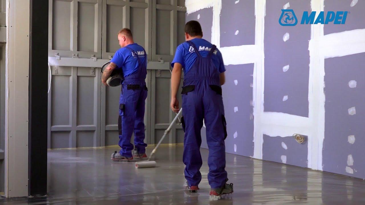 Hogyan készítsünk Mapei dekor padlót szakszerűen  - YouTube 95289d2b34