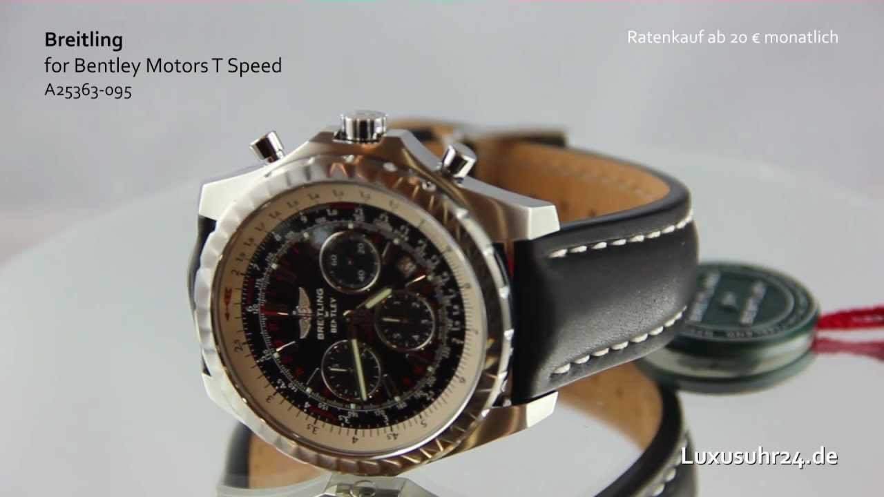 Breitling For Bentley Motors >> Breitling for Bentley Motors T Speed A25363 095 Luxusuhr24 Ratenkauf ab 20 Euro/Monat - YouTube