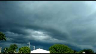 Time lapse temporal se formando na Paraíba