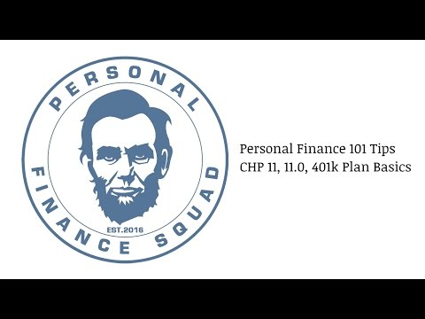 Personal Finance 101 Tips Millennials/Adults - CHP 11.0, 401(k) Plan Basics Explained
