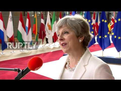 Belgium: UK offer to EU citizens 'fair and serious' - May