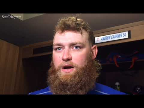Cashner talks about his night on mound, at plate for Rangers